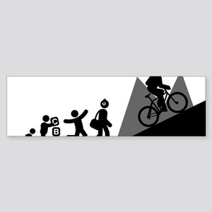 Mountain-Biking-E Sticker (Bumper)