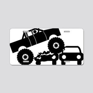 Monster-Truck-A Aluminum License Plate