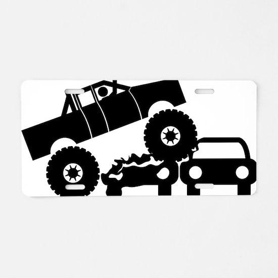 Monster-Truck-A Aluminum License Plate