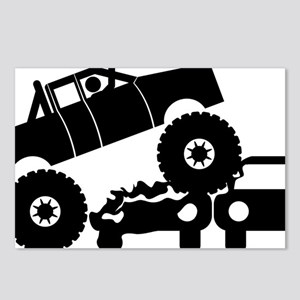 Monster-Truck-A Postcards (Package of 8)