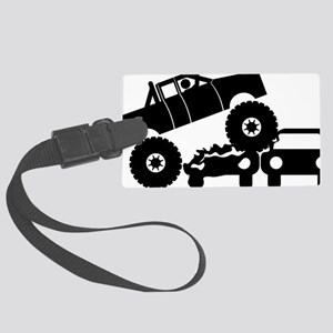 Monster-Truck-A Large Luggage Tag