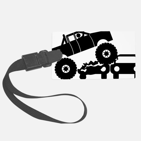 Monster-Truck-A Luggage Tag