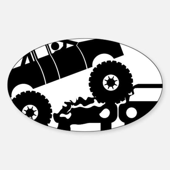 Monster-Truck-A Sticker (Oval)