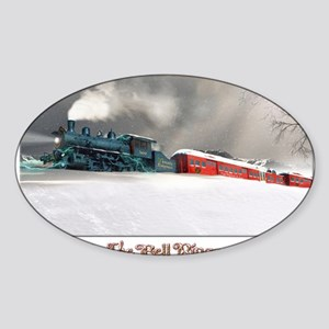 THE HOLLY EXPRESS TRAVELS HOME Sticker (Oval)