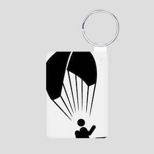 Paragliding-A Aluminum Photo Keychain