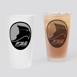 F-22 Raptor - Grey Drinking Glass
