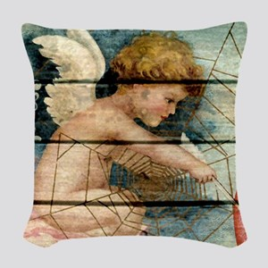 Lil Cupid Woven Throw Pillow