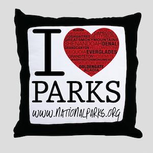 heart parks Throw Pillow