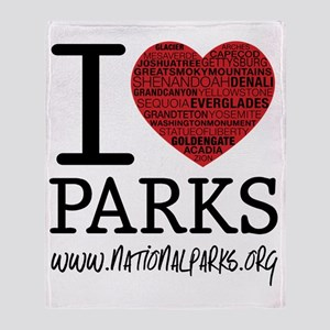 heart parks Throw Blanket