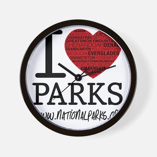 heart parks Wall Clock