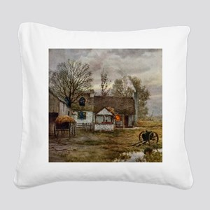 haywain_shower_curtain_kl Square Canvas Pillow