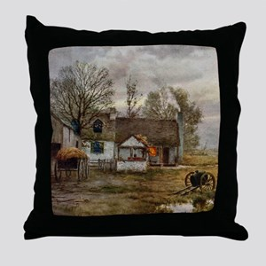 haywain_shower_curtain_kl Throw Pillow