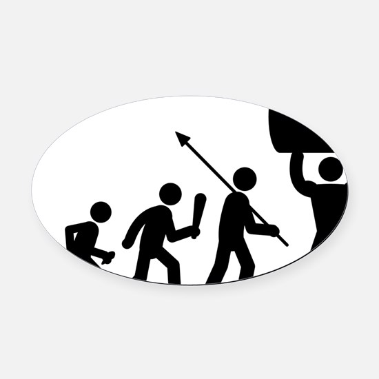 Strong-Man-C Oval Car Magnet