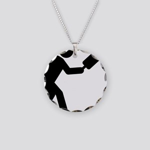 Pickleball-A Necklace Circle Charm