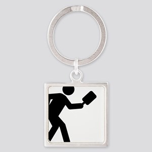 Pickleball-A Square Keychain