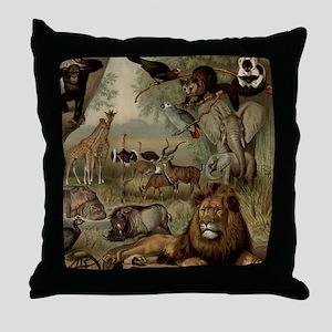 am_shower_curtain_kl Throw Pillow