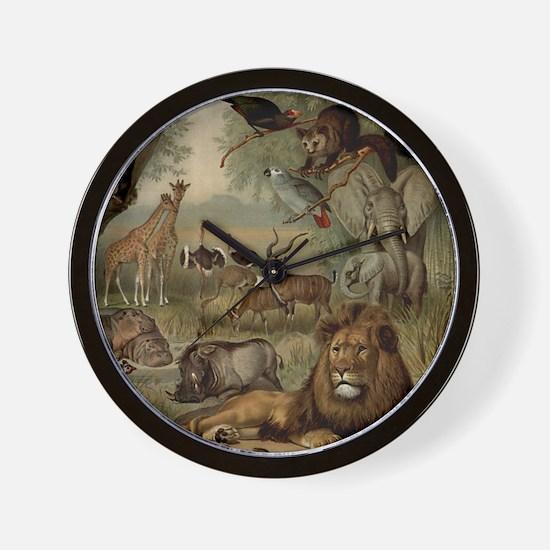 am_shower_curtain_kl Wall Clock