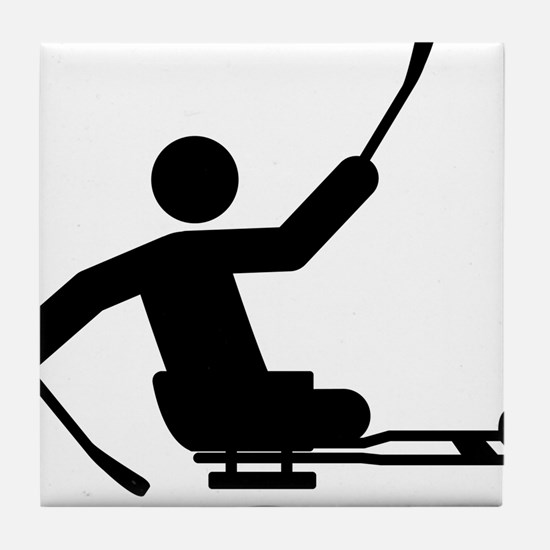 Physically-Challenge-Sled-Hockey-A Tile Coaster