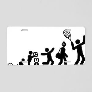 Tennis-E Aluminum License Plate