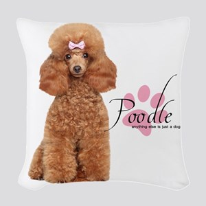 Poodle Woven Throw Pillow
