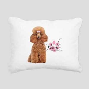 Poodle Rectangular Canvas Pillow