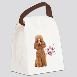 Poodle Canvas Lunch Bag