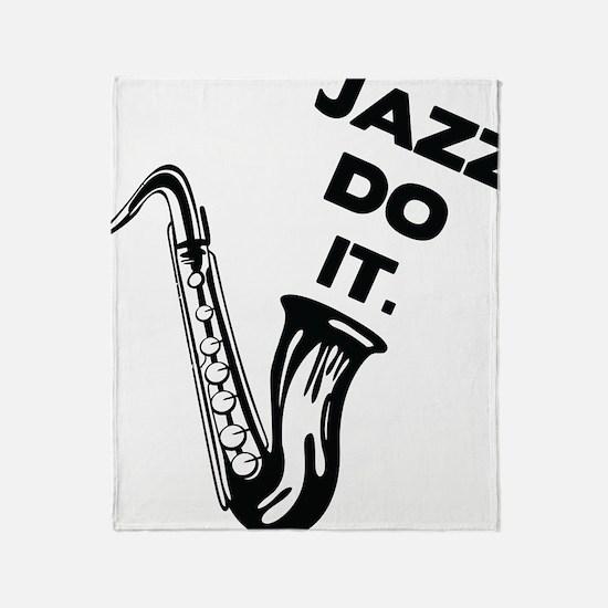 Jazz do it Throw Blanket