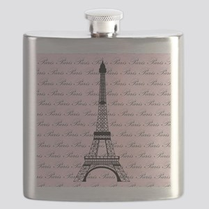 Pink and Black Paris Eiffel Tower Flask