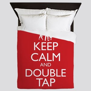 Keep Calm and Double Tap Queen Duvet