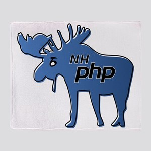New Hampshire PHP Moose Logo w/o Tex Throw Blanket
