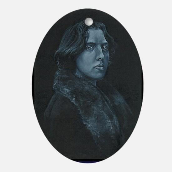 Oscar Wilde Oval Ornament