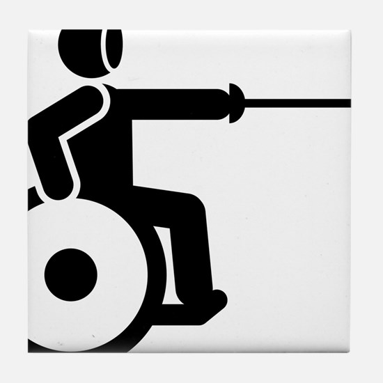 Wheelchair-Fencing-A Tile Coaster