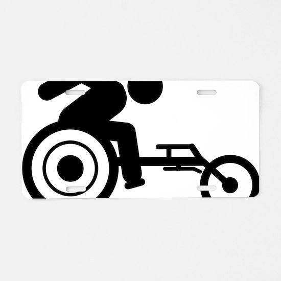 Wheelchair-Racing-A Aluminum License Plate