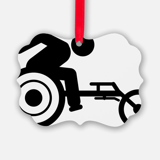 Wheelchair-Racing-A Ornament