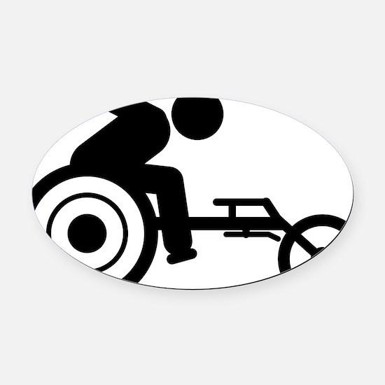 Wheelchair-Racing-A Oval Car Magnet