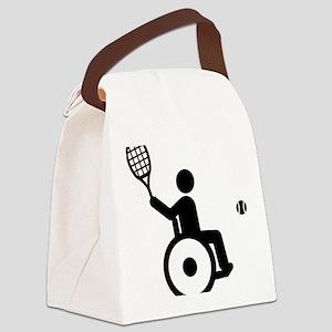 Wheelchair-Tennis-A Canvas Lunch Bag