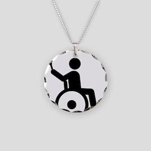 Wheelchair-Tennis-A Necklace Circle Charm