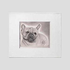 French Bull Dog Throw Blanket