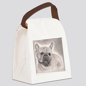 French Bull Dog Canvas Lunch Bag