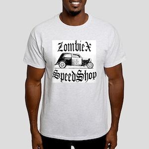 ZombieX old English logo Ash Grey T-Shirt