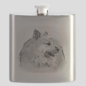 Icelandic Sheepdog Shirt Flask