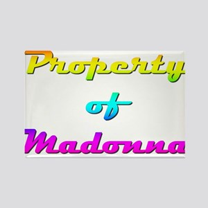 Property Of Madonna Female Rectangle Magnet