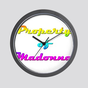 Property Of Madonna Female Wall Clock
