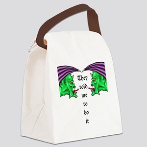 Green Demons Canvas Lunch Bag