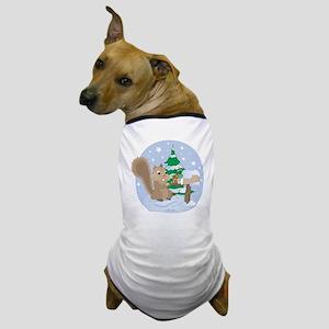 Winter Squirrel Scene Dog T-Shirt