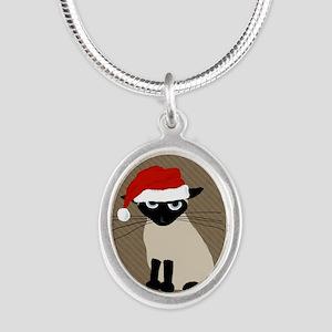 hohocat Silver Oval Necklace