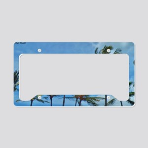 Palm Trees in Maui License Plate Holder