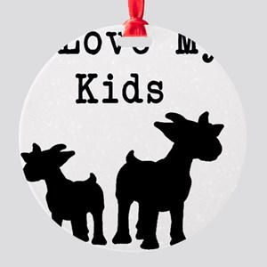 I Love My Kids Round Ornament