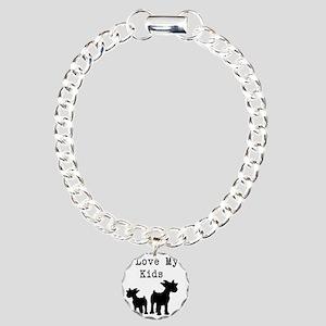 I Love My Kids Charm Bracelet, One Charm
