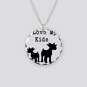 I Love My Kids Necklace Circle Charm